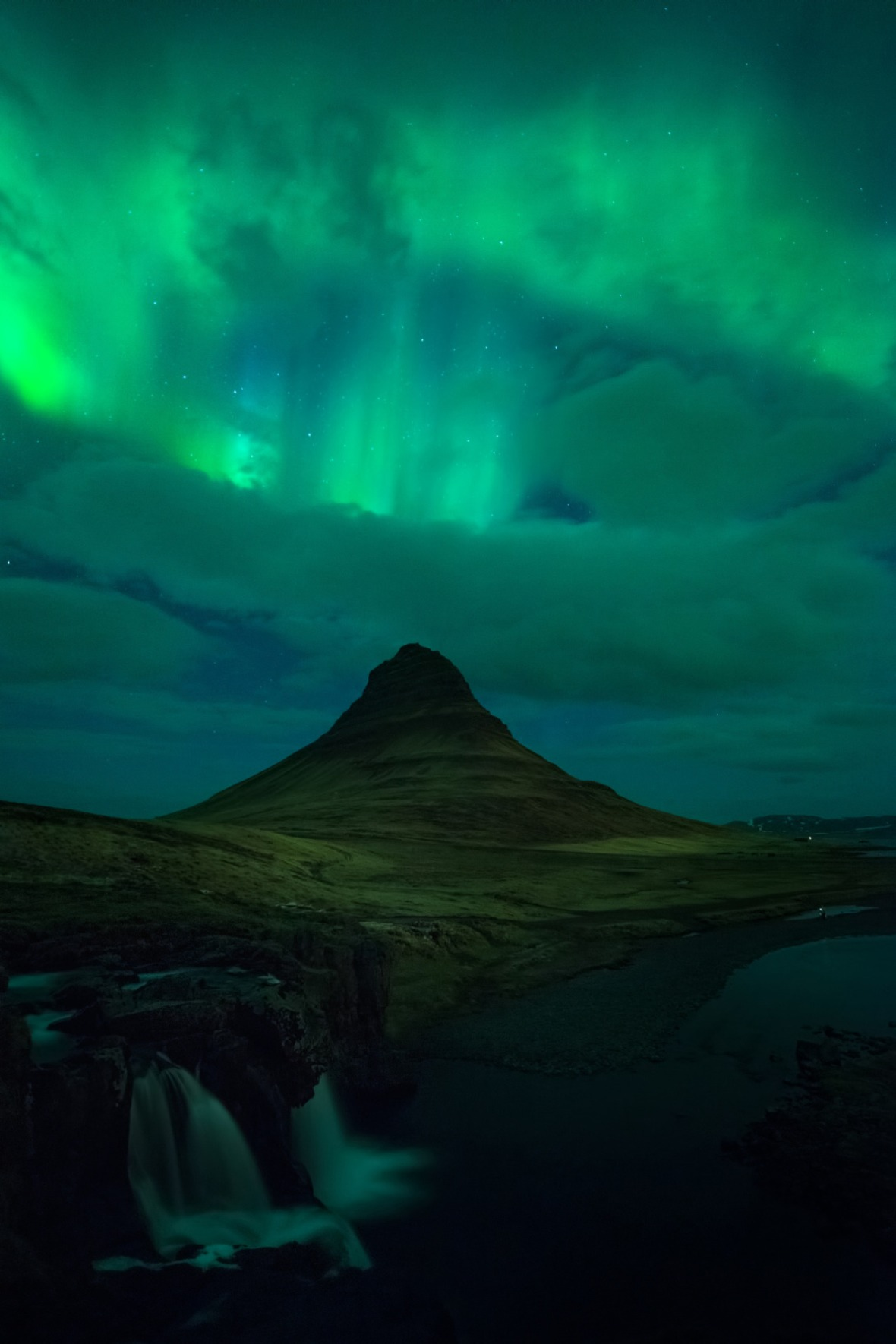 Explosion of Lights at Kirkjufell